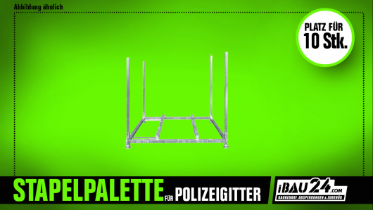 Square / stacking pallet for police jig